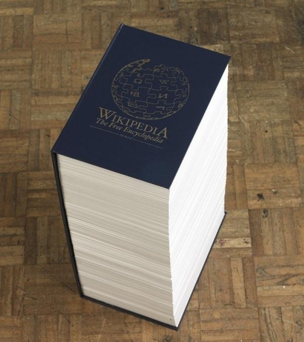 Wikipedia auf Papier