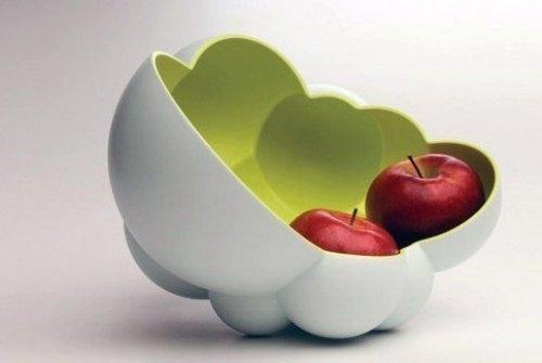 Aussergewoehnliche Vase fuer AEpfel