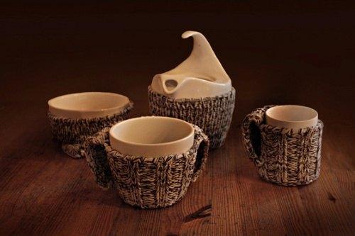 Bekleidung fuer ein Tee-Set