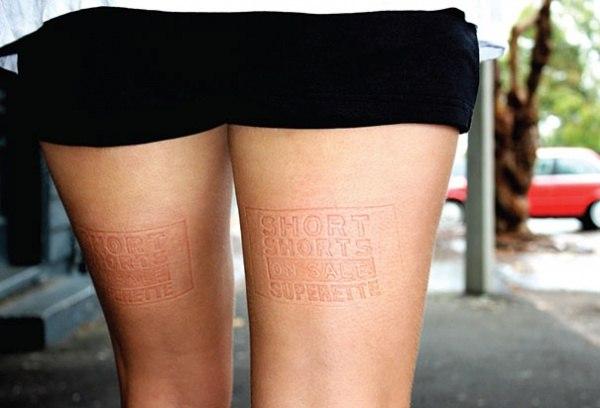 Bekleidungsmarke Superette hat ihre Werbung auf den Baenken