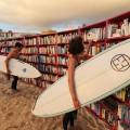 Bibliothek am Strand