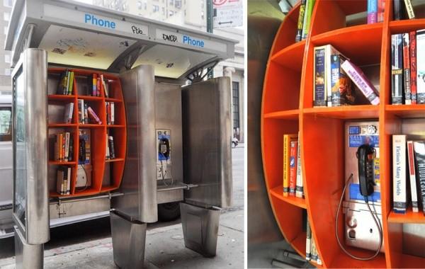 Bibliothek in einer Telefonzelle 1