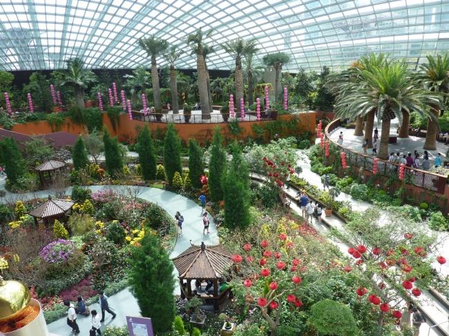 Botanische Bay Gärten von Singapur 10