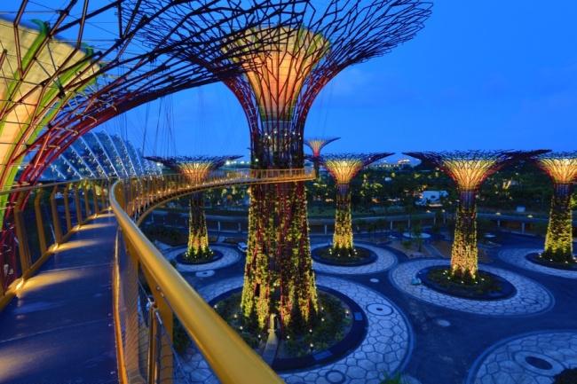 Botanische Bay Gärten von Singapur 15