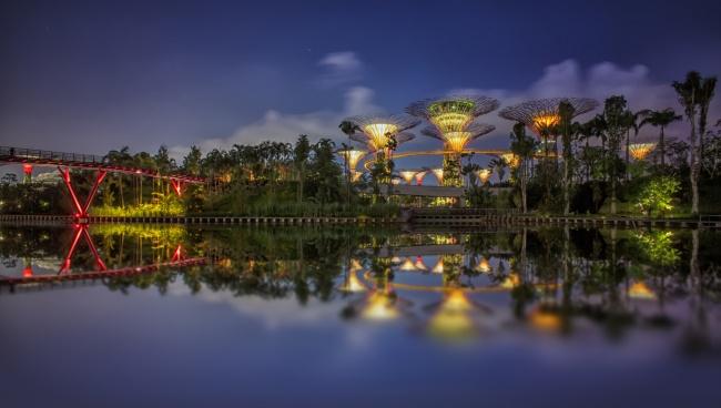 Botanische Bay Gärten von Singapur 16