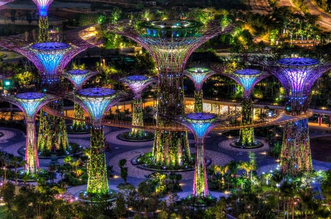 Botanische Bay Gärten von Singapur 6