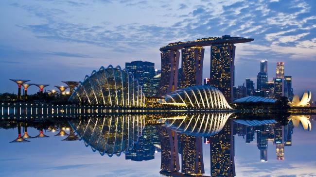 Botanische Bay Gärten von Singapur 8