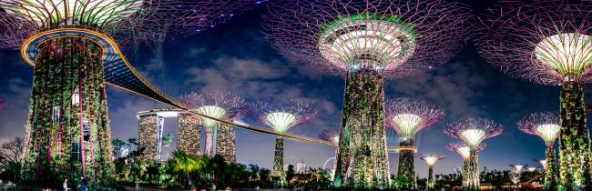 Botanische Bay Gärten von Singapur