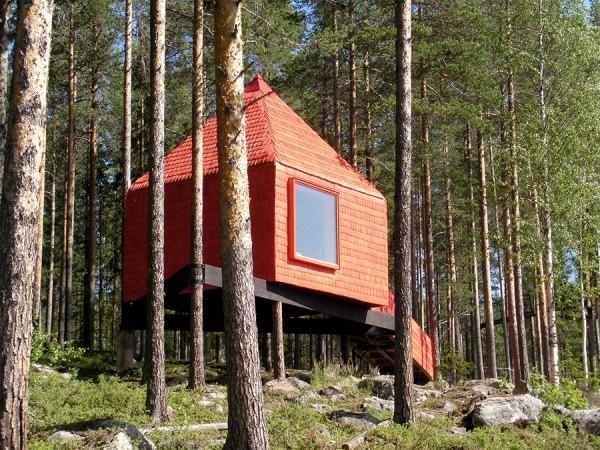 Das Hotel befindet sich auf einem Baum, Schweden