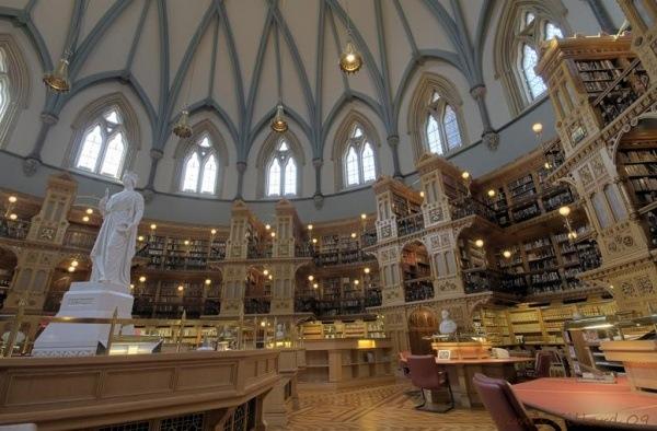 Die kanadische Bibliothek des Parlaments, Ottawa, Kanada 1