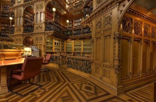 Die kanadische Bibliothek des Parlaments, Ottawa, Kanada