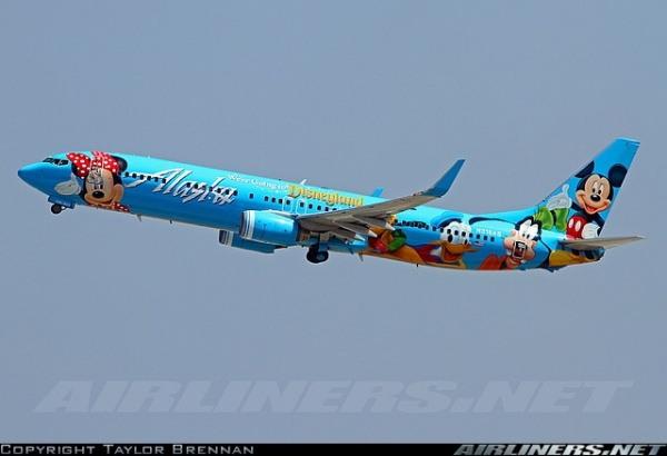 Disney von Fluggesellschaft Alaska Airlines