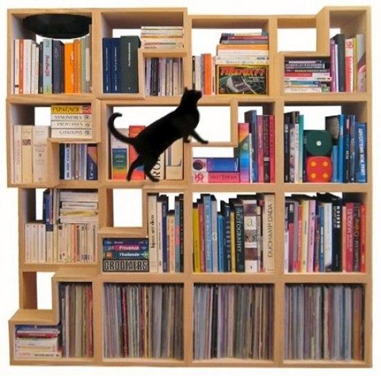 Fachbodenregale »Katzen-Bibliothek»