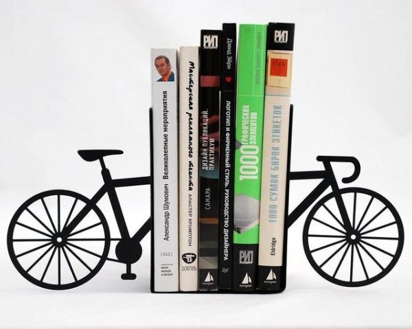 Fahrrad Buchstütze Design