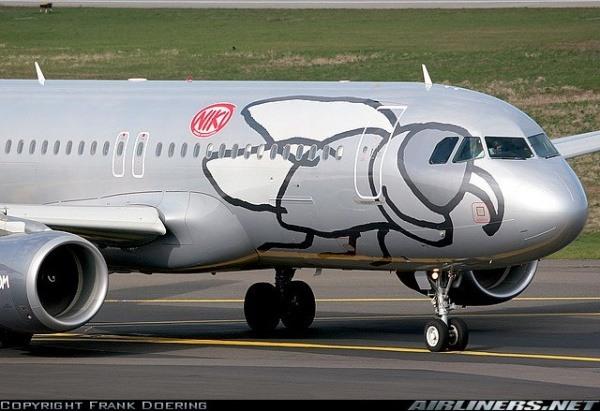 Flugzeug von Gesellschaft Niki Airlines