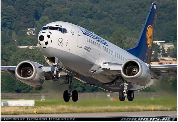 Fussball-Thema von Lufthansa