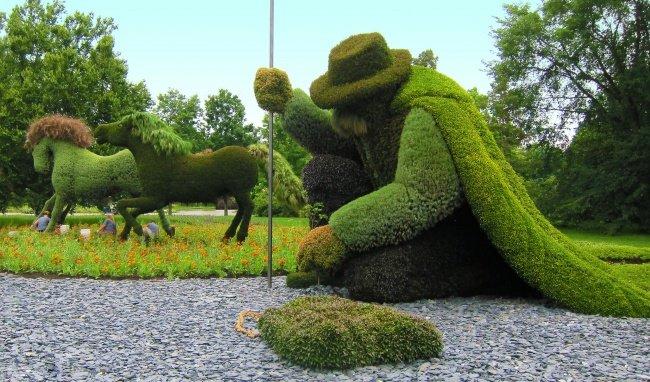 Gaertner Blumen-Skulpture