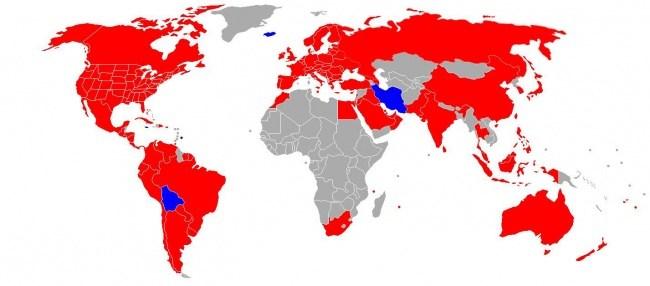 Karte der Beliebtheit von der Restaurantkette McDonalds