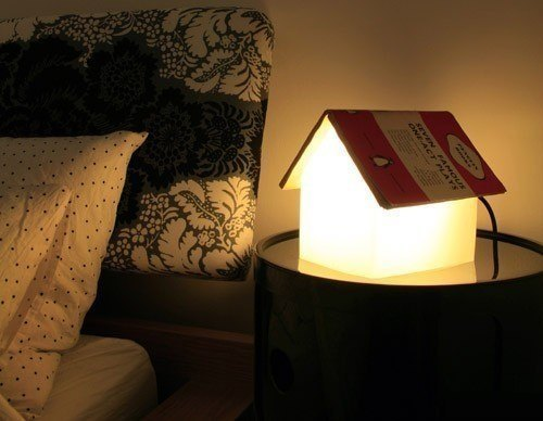 Lampe um Buecher zum Lesen