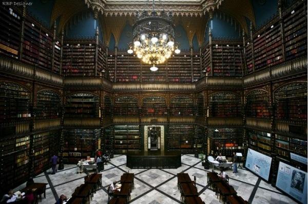 Library Portugiesischer Lesesaal, gegruendet 1850, Rio de Janeiro, Brasilien