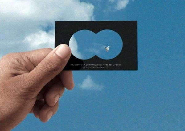 Ornithologe Visitenkarten Design