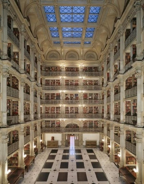 Peabody Bibliothek Baltimore, Maryland