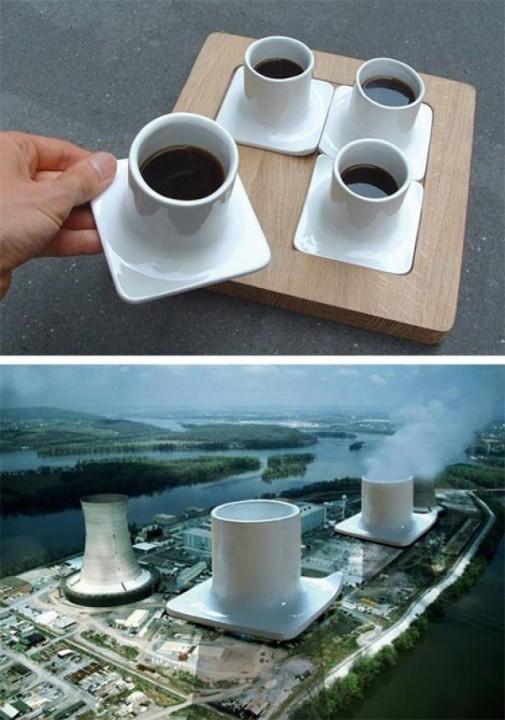 Servise, genannt Cadarache in Form von einem Kernkraftwerk 1