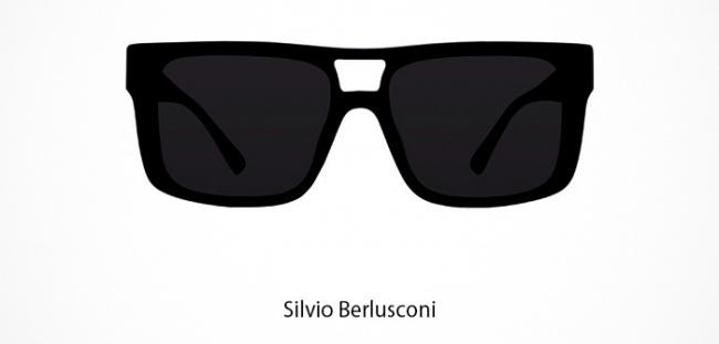 Silvio Berlusconi Brille