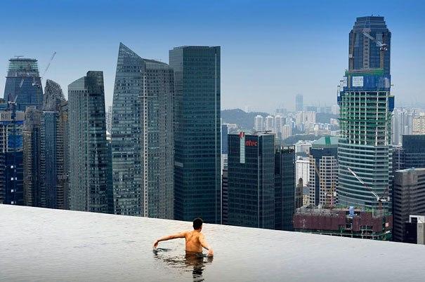 Die sch nsten und exotische schwimmb der der welt am rande eines abgrunds hinter dem horizont - Singapore hotel piscina ...