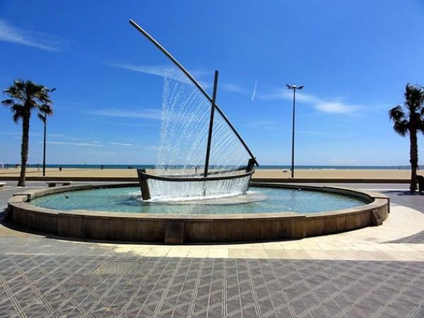 Springbrunnen als Boot 1