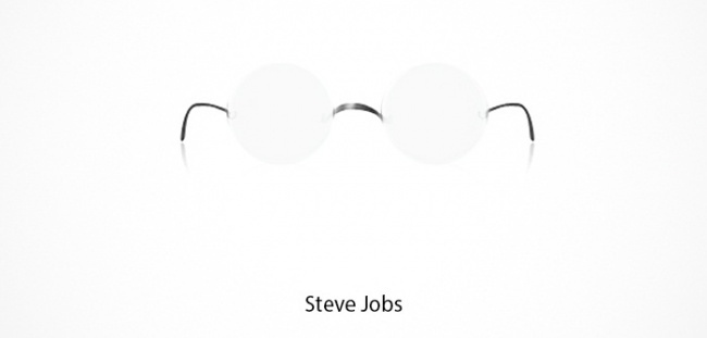 Steve Jobs Brille