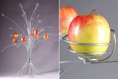Vase fuer AEpfel als Blumenstrauss