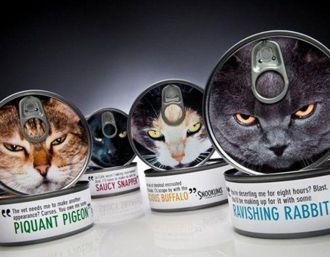 Verpackter Katzenfutter