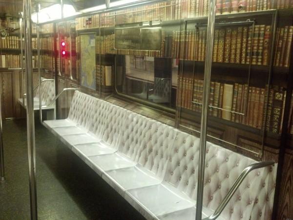 Virtuelle Bibliothek auf der U-Bahn 2