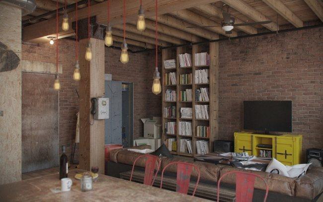 Bachelor-Wohnung im Vintage-Stil 1