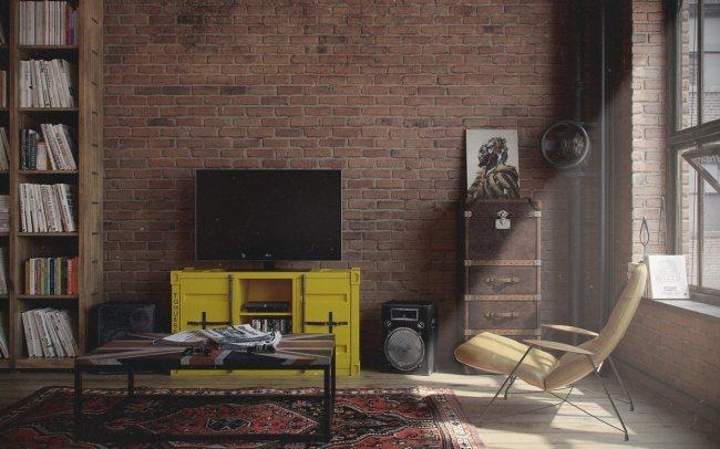 Bachelor-Wohnung im Vintage-Stil 2