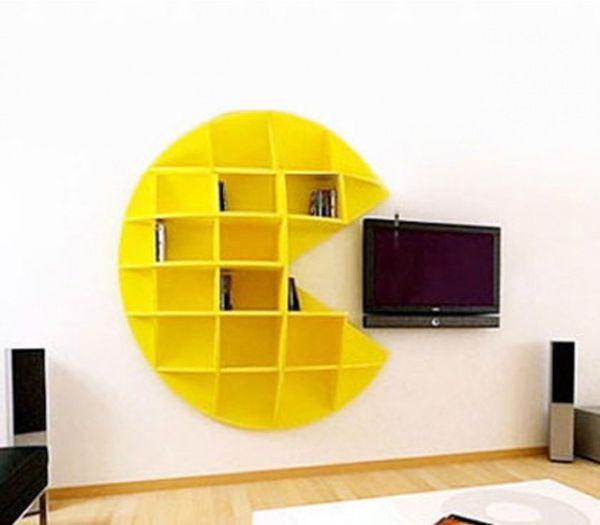 Bibliothek im Stil von Pacman