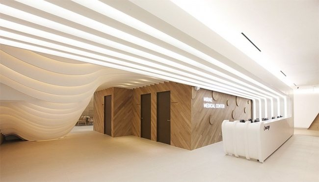 Das Innere des Wellness-Center in Seoul