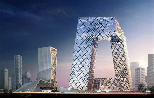 Der Hauptsitz von China Central Television