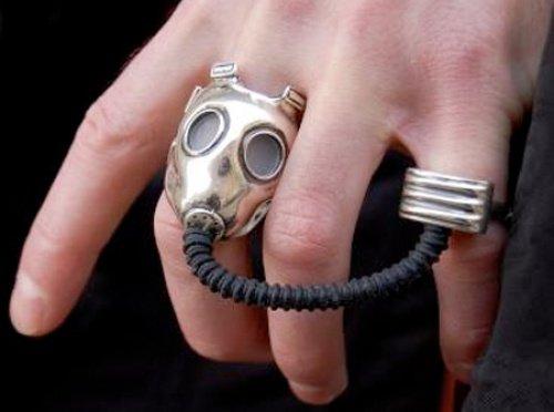 Maske aus Silber