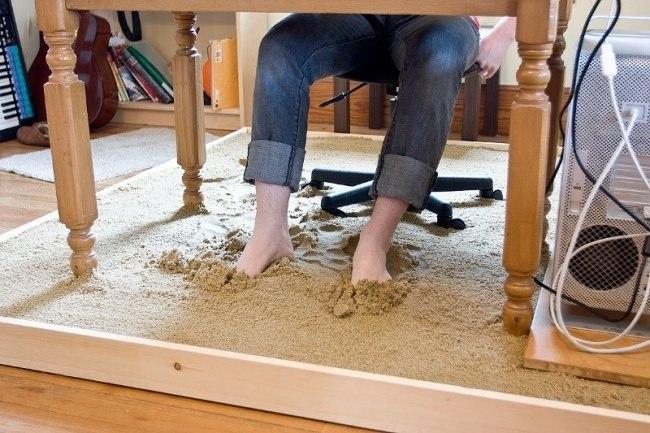 Sandstrand am Arbeitsplatz 1