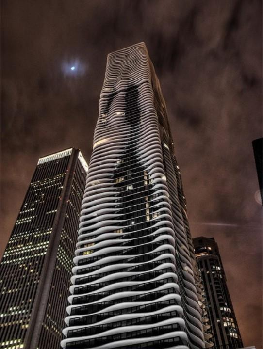 Wolkenkratzer Aqua Tower