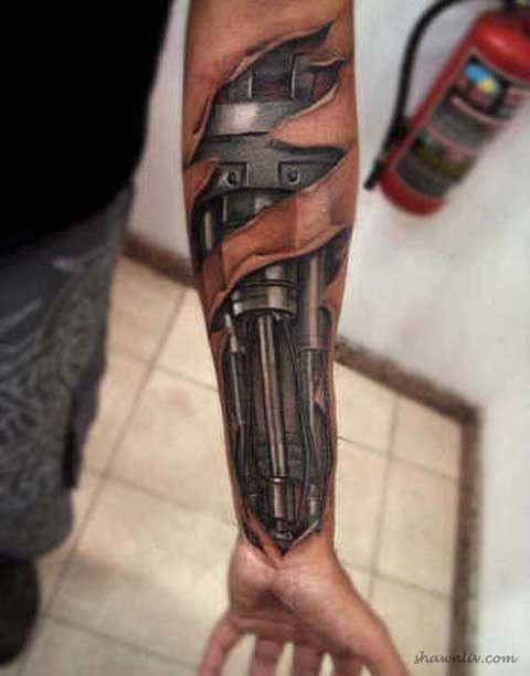Erstaunlich realistische 3D Tattoos 7