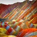 Farbige Steine Danks Zhangye, China