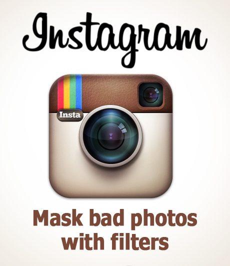 Instagram. Schlechte Fotos mit Filter getarnt.