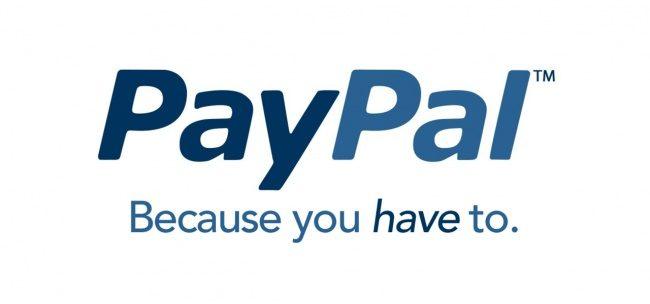 Pay Pal. Weil Sie es brauchen
