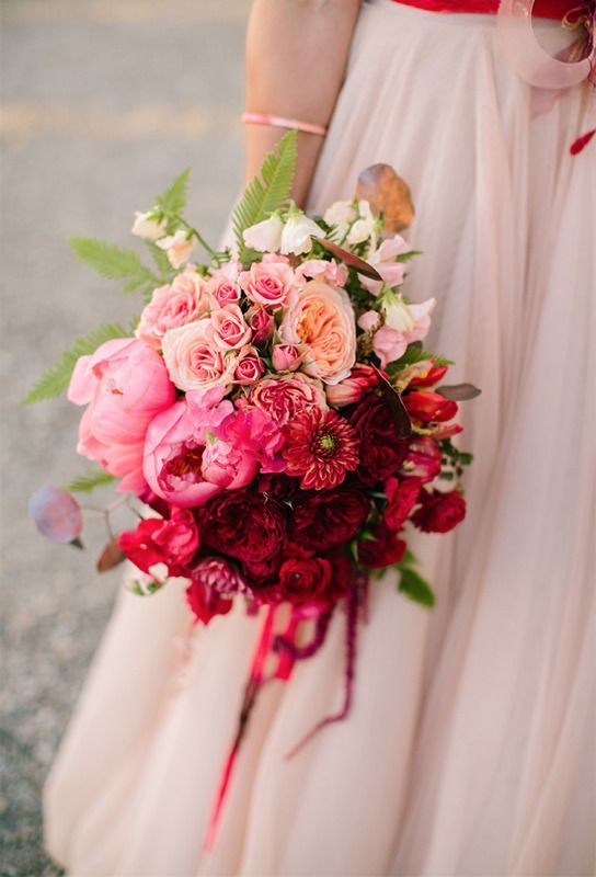 Tiefroter Hochzeits Ideen für den Herbst / Winter-Hochzeiten