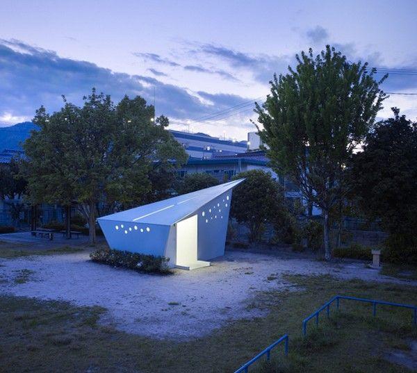8. Die Toiletten in den Parks von Hiroshima, Japan