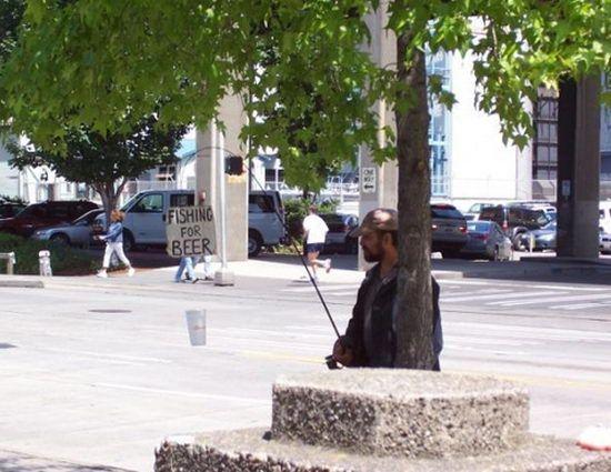Angeln Obdachlose
