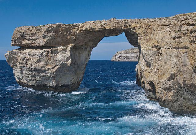 Azurblaues Fenster Malta